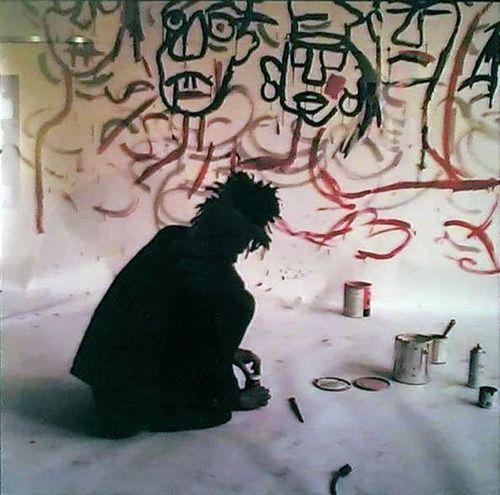 BasquiatA Mini-Saia Jeans, Art Spaces, Jeanmichel Basquiat, Artists Studios, Happy Birthday, Art Basquiat, Jeans Michele Basquiat, Eyewear Rayban, Jean Michel Basquiat