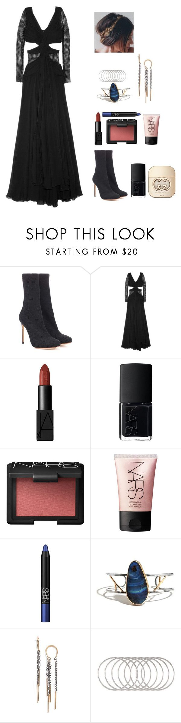 """""""Performing """"Gypsy"""" at #musicare 2018 for Fleetwood Mac (1/26)"""" by designing-myworld ❤ liked on Polyvore featuring Francesco Russo, Jay Ahr, NARS Cosmetics, Melissa Joy Manning and Gucci"""