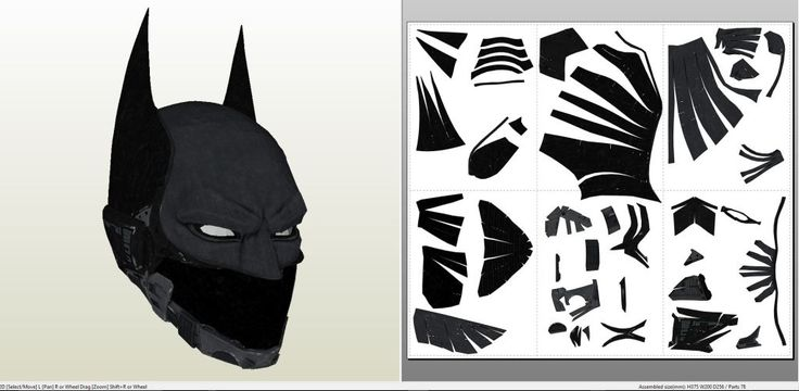 Batman Arkham Knight - Beyond Helmet +FOAM+ - Pepakura.eu
