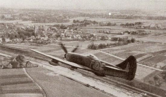 Pierre Clostermann in Hawker Tempest JF-E (NV994)