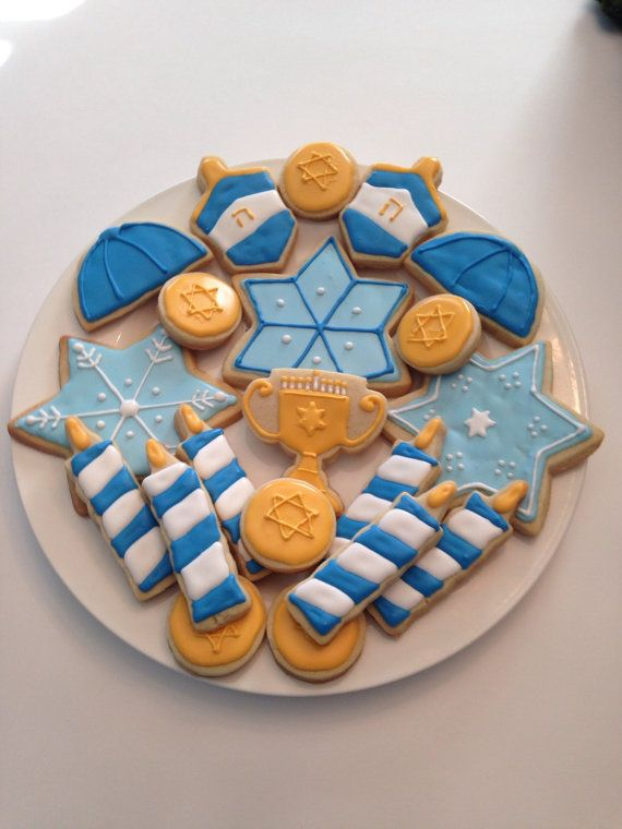 Homemade Decorated Hanukkah Cookies by GCCookieFactory on Etsy