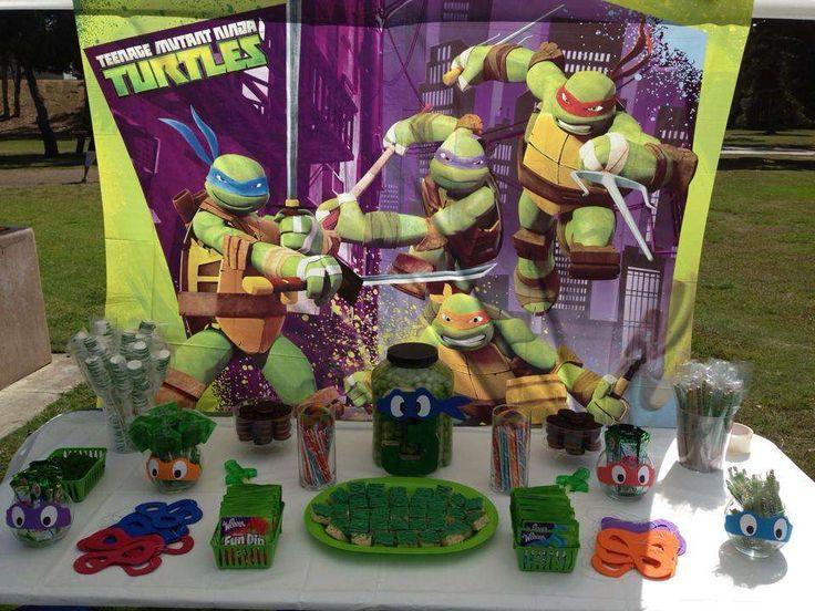Damian's 3rd Ninja Turtle Birthday   CatchMyParty.com