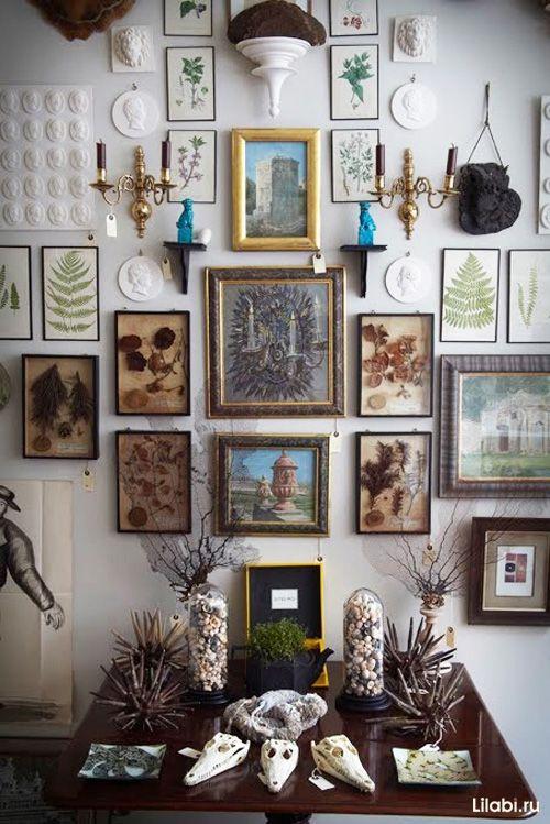 Украшение стен в квартире гербариями