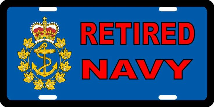 Navy Retired License Plates