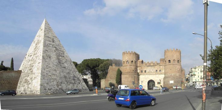 Porta San PaoIo, Rome: I lived near here and had to pass the pyramid on the way to go shopping: Rome, Pictures, Porta San, Pyramid Today, San Paoio, San Paolo, Rome Pyramid