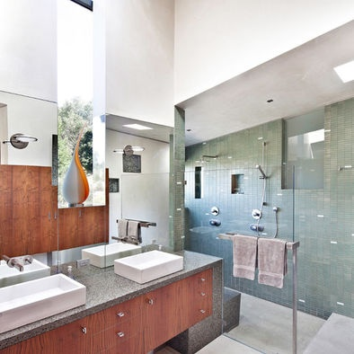 Double shower with step down