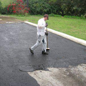 DIY seal driveway asphalt