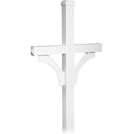 Salsbury Industries Deluxe Post, 2-Sided, In-Ground Mounted, For Roadside Mailboxes, White