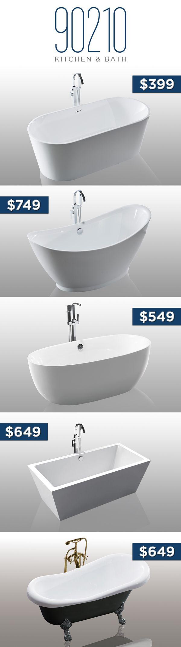 Bathtubs under $900
