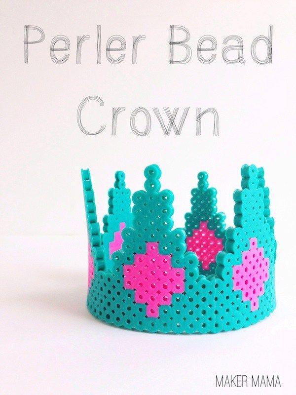 Avec des perles Hama tout les DIY sont permis couronne perler bead galette des rois