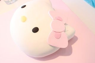 Fantastic, detailed tutorial from a professional cake and sugar artist on how to make a 3D Hello Kitty head cake via Wee Love Baking (LINK FIXED)