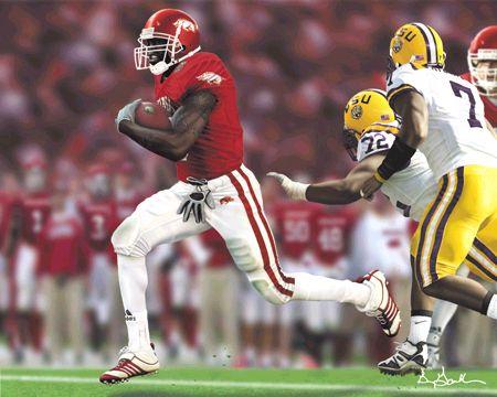 arkansas razorbacks football | Darren Mcfadden Arkansas Razorback Football Art Print