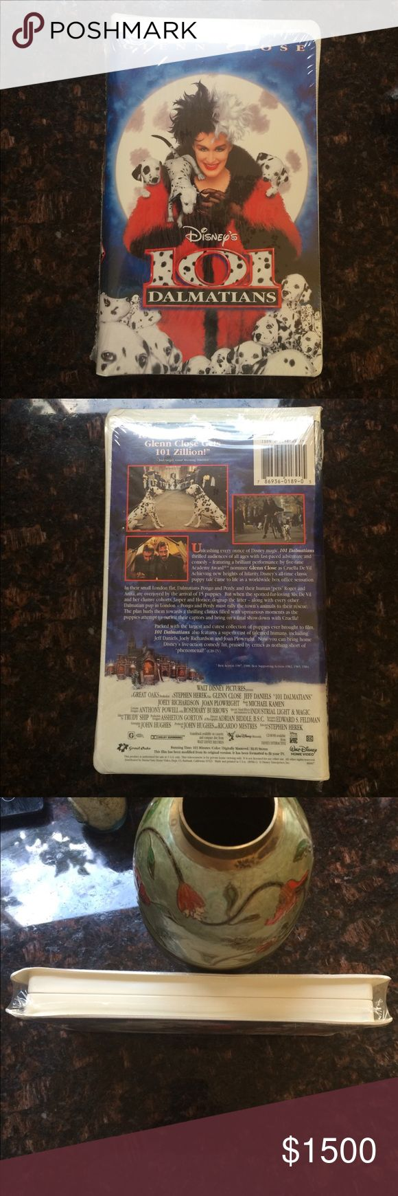 """Disney 101 Dalmatians VHS 101 DALMATIANS WALT DISNEY'S HOME VIDEO COLLECTOR'S """"SEALD"""" 97 VHS TAPE -RARE ,Brand New ,NTSC ,Animated ,Live -Action , Collector's Edition Walt Disney's Other"""