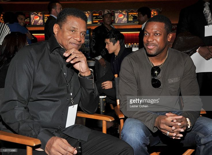 Jackie Jackson (L) and Chris Tucker attend the immortalization of Michael Jackson at Grauman's Chinese Theatre Hand & Footprint ceremony held at Grauman's Chinese Theatre on January 26, 2012 in Los Angeles, California.