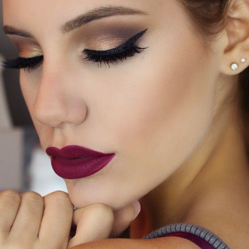 Retro vintage grunge beautiful makeup look 2015