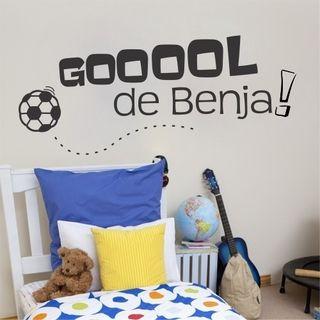 vinilo decorativo futbol dormitorio nene varon