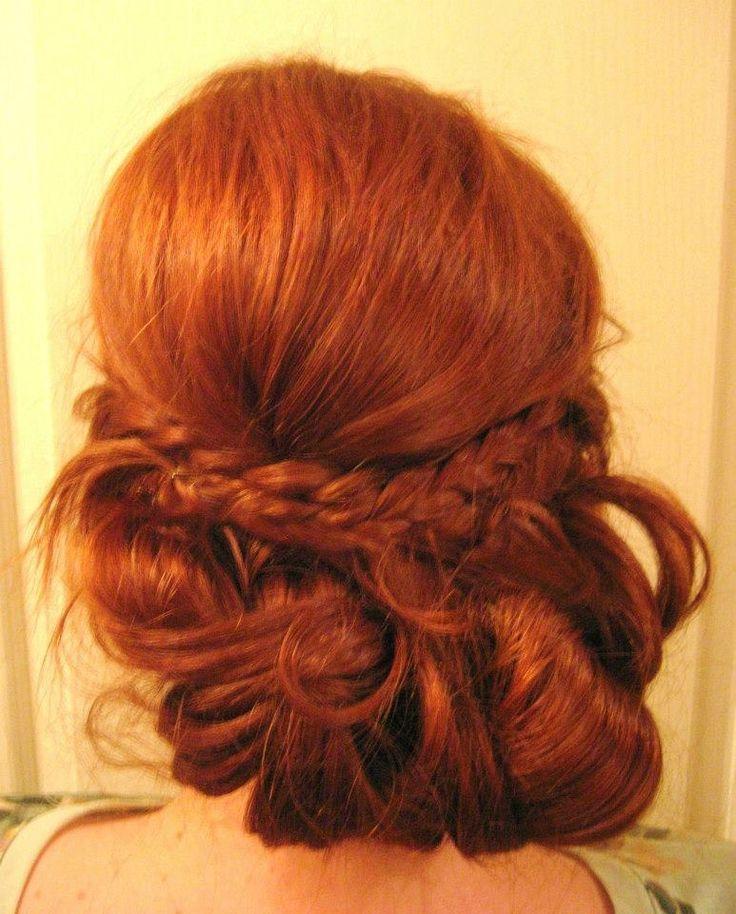 bohemian hair updo