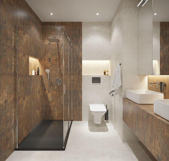 Oryginalny Kamien W Lazience Leroy Merlin Gres Szkliwiony Brugia Rust Lp 39 8 X 119 8 Cersanitbrodzik Do Kabiny Prysznicowej Plaski Remix 8 Bathroom Bathtub