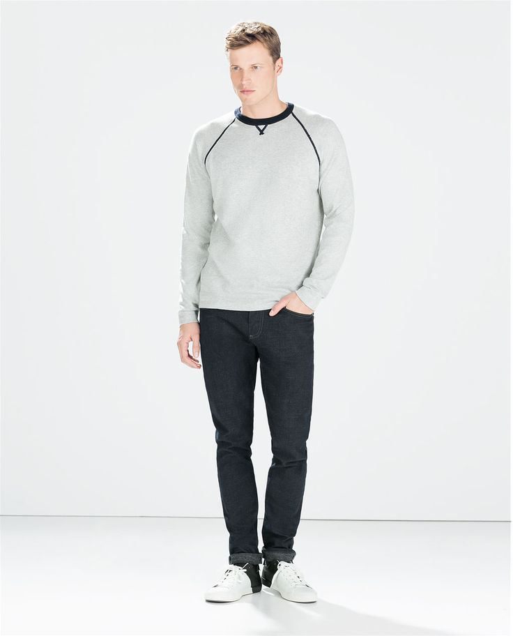 Image 1 of CONTRAST SWEATER from Zara