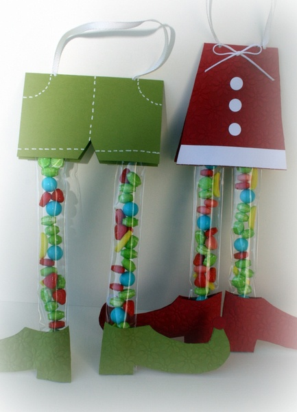 Elf Legs...  Cute Christmas cards for the kids friends...