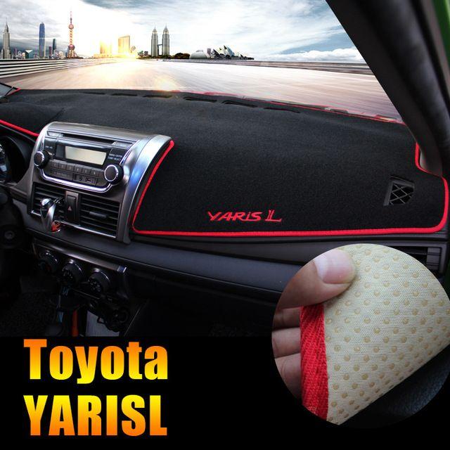 d53955352e8c Car dashboard Avoid light pad Instrument platform desk cover Mats Carpets  LHD For Toyota YARIS L 2014 2015 Accessories Review