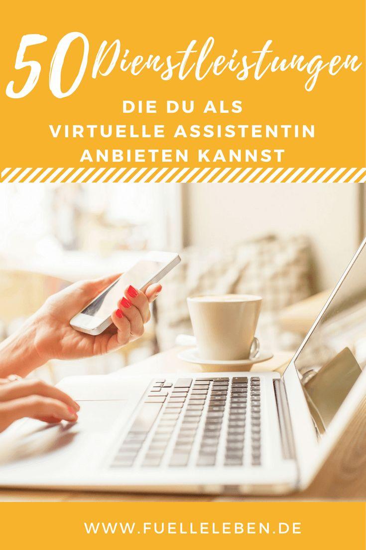 50 Dienstleistungen, die Du als Virtuelle Assistentin anbieten kannst (und die Deine Kunden glücklich machen!)