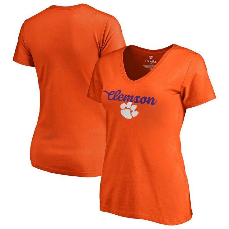 Clemson Tigers Fanatics Branded Women's Freehand T-Shirt - Orange