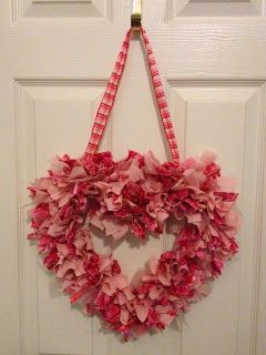 All in a day or two...: Heart Rag Wreath Tutorial
