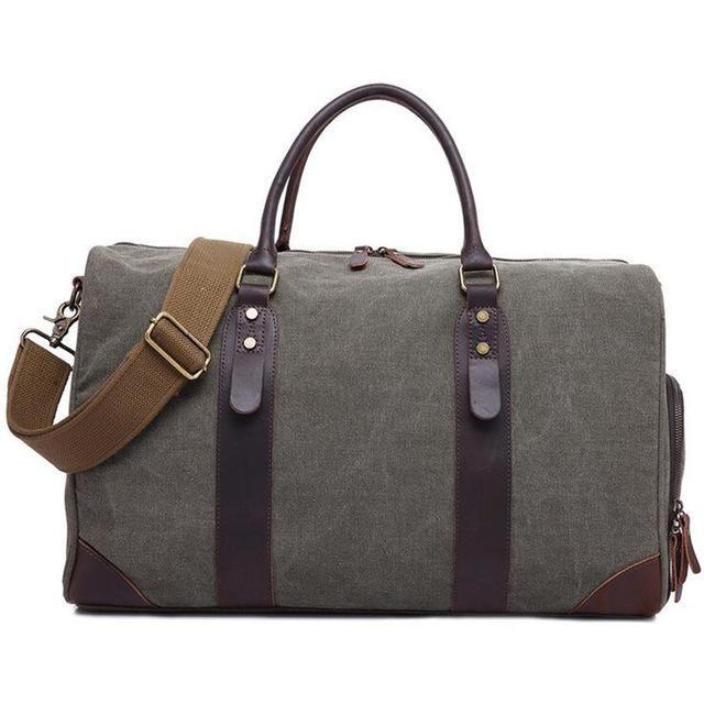 458eb0fdad77 2018 Fashion Canvas Men s Travel Bag Carry on Luggage Bags Vintage Handbag  Crossbody Men Duffel Bags