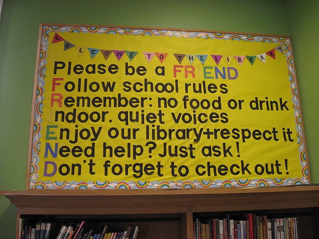 library rules, but I would change a few for my library.