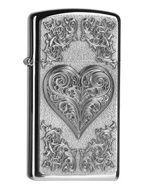 Zippo Lighter 2004523 Heart Ornaments Slim with Personalised Engraving  http://www.lighterstore.co.uk/zippo-lighter-2004523-heart-ornaments-slim-with-personalised-engraving/