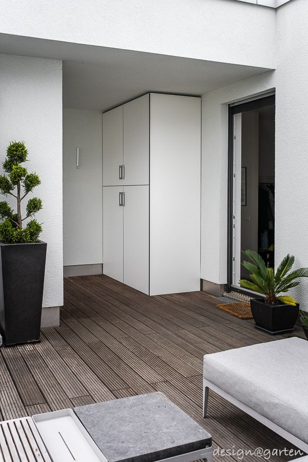 Schrank Fur Die Dachterrasse Gartenschrank Haus Und Wohnen Terrasse