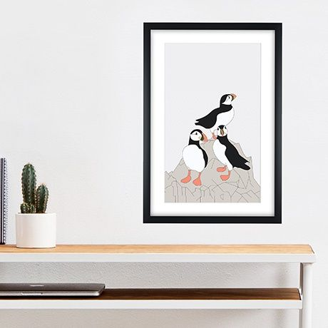 Framed Lunde Print by Swen Swensøn   MONOQI #bestofdesign
