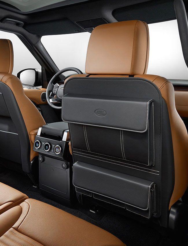 Range Rover Leather Seat Back Stowage Accessory Oem Vplvs0182 Suv Accessories Car Storage Bag Custom Car Interior
