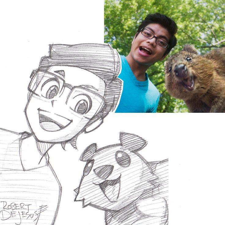 Robert-deJesus-divertidos-retratos-anime-005
