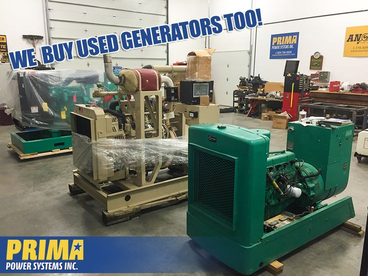 Not only do we have great deals on NEW Generator Packages - We buy USED Generators too! If it's diesel or natural gas, ranging from 20 kW to 300 kW call PRIMA today! 1-604-791-1815 #webuygenerators #usedgenerators #PRIMA