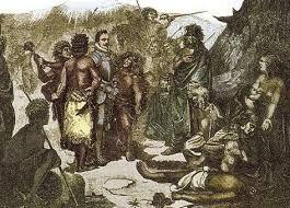 Luego de la batalla de Tucapel los guerreros araucanos capturan y luego dan muerte al gobernador Pedro de Valdivia.