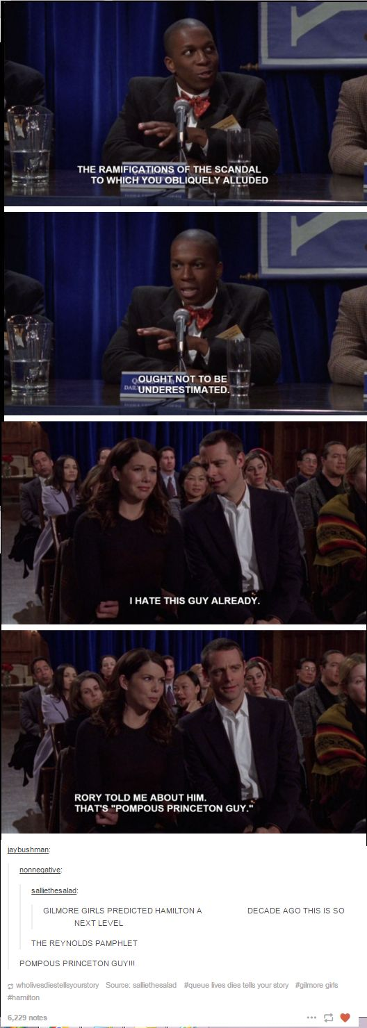 Gilmore Girls Predicted Hamilton - WHAT THE ACTUAL CRAP?! YESYESYESYEEESSSS