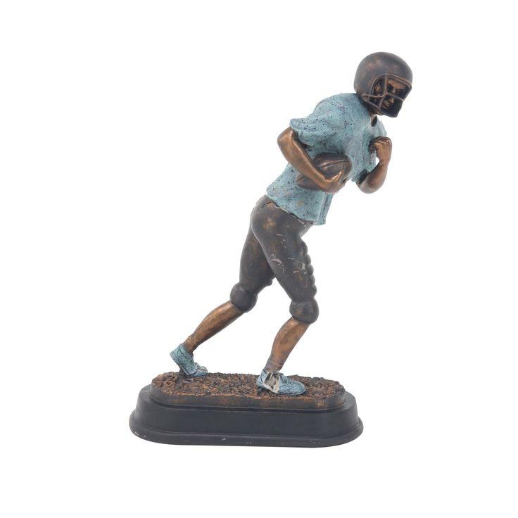 Studio 350 Modern Ceramic Running Football Player Sculpture