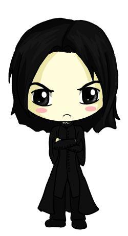 Snape Chibi by IcyPanther1.deviantart.com on @deviantART