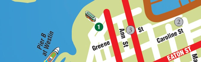Map of Key West...in relation to cruise terminal