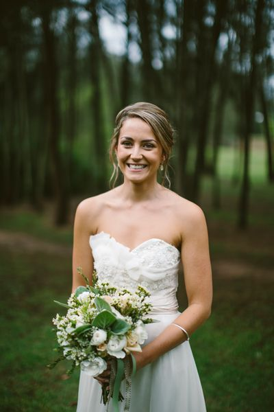 This white and green bouquet is just too pretty - as is the bride! We love the use of foliage as a feature.