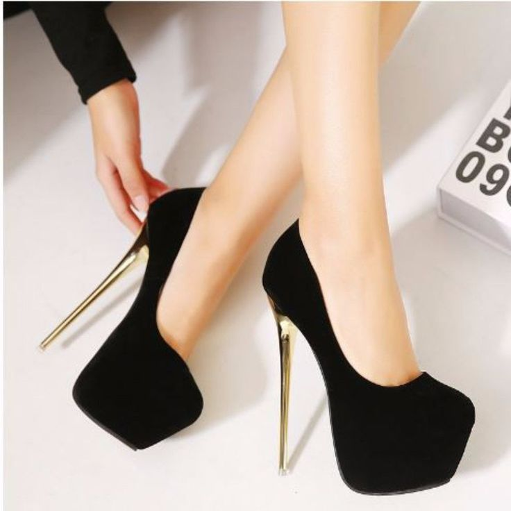16CM Round Toe Gold Pleated Women High Heel Shoes