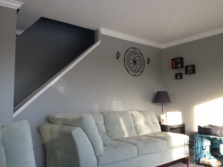 Valspar Quot Wet Pavement Quot This Color Is Amazing In My Living Room With Lots Of Natural Light Not