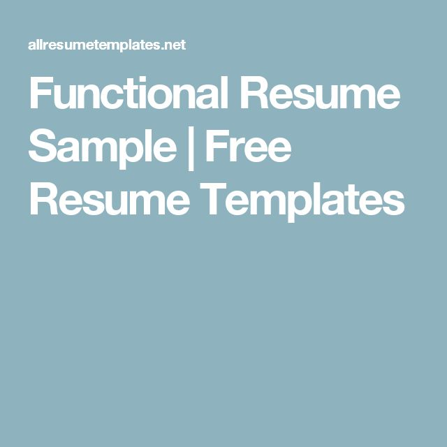 20 best Resumes images on Pinterest Resume ideas, Resume help - functional resume samples free
