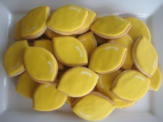 Lemon cookies for an Alex's Lemonade Stand