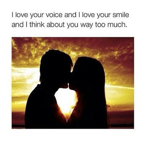 I Love You Voice Quotes : Love Your Voice And I Love Your Smile And I Think About You Way Too ...