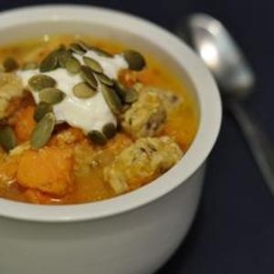 Tempeh gives this sweet potato stew a dose of protein. Ladle it over ...