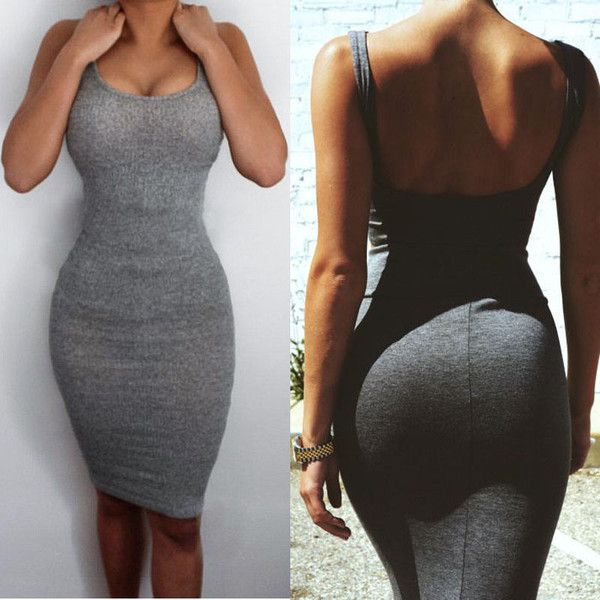 Sexy Gray Summer Bandage Slim BodyCon Dress - BodyCon - I Sell Goods