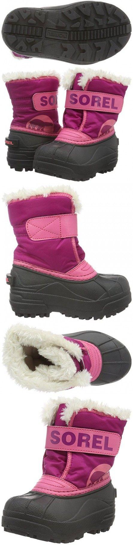 Sorel Kids' Childrens Commander-K Snow Boot, Tropic Pink, 9 M US Toddler